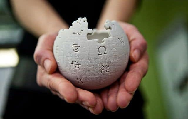 Wikipedia mini globe handheld
