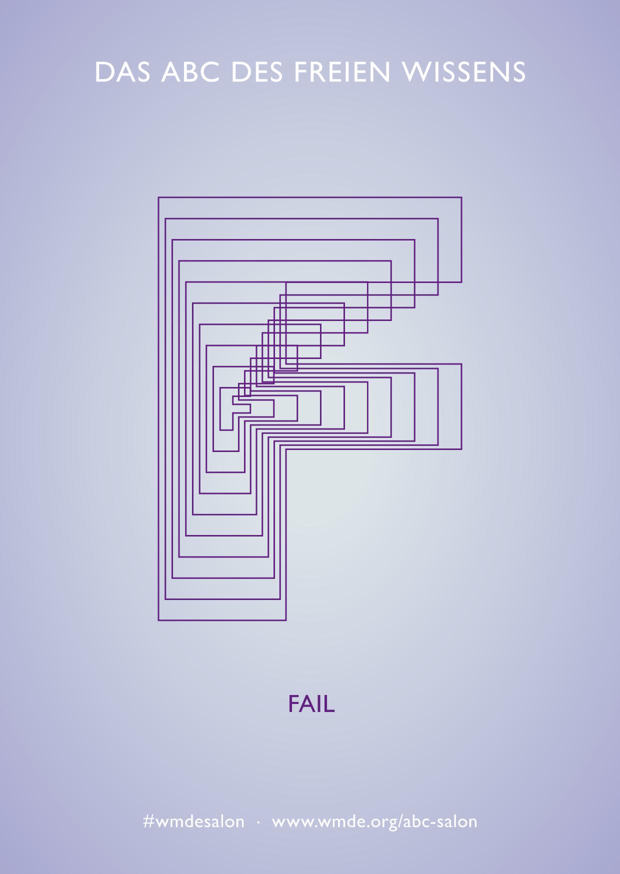 Grafische Darstellung des Buchstaben F