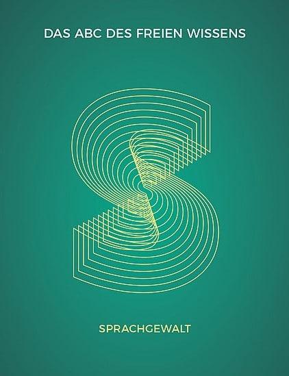 Postkarte zu ABC Salon des Freien Wissens, Thema Sprachgewalt
