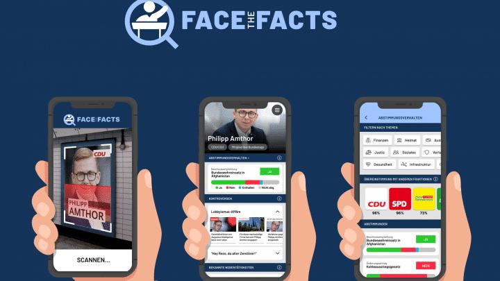 Short description von der App Face the Facts