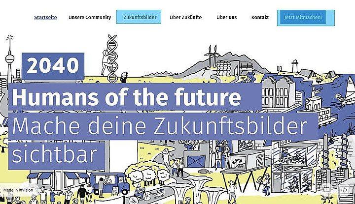 Screenshot der Futures Probes-Startseite